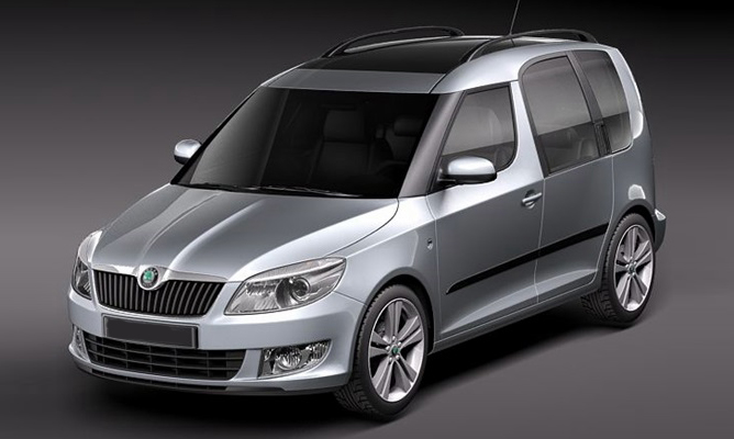 vw caddy disguised as skoda roomster. Black Bedroom Furniture Sets. Home Design Ideas