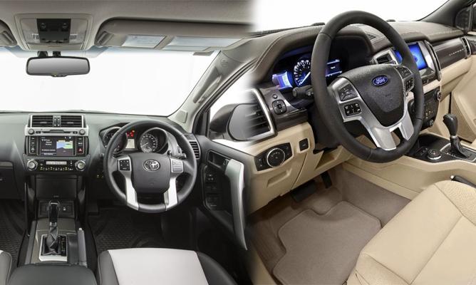 Toyota Land Cruiser Prado V Ford Everest Interior on Toyota Land Cruiser Prado Uk